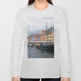 Nyhavn waterfront in Copenhagen Long Sleeve T-shirt
