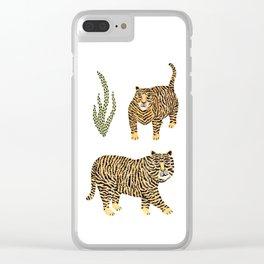 Jungle Tigers light by Veronique de Jong Clear iPhone Case
