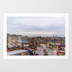 Ciudad de La Habana Art Print