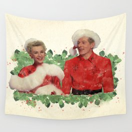 Phil & Judy (White Christmas) Wall Tapestry