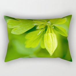 Golden Spur Columbine Rectangular Pillow