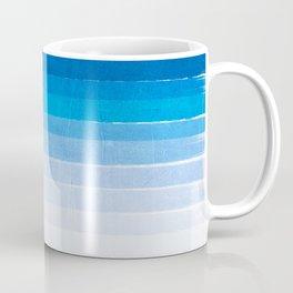 Blue Ombre Brushstroke - Summer, Beach, Ocean, Water, LA Cute trendy, painterly art Coffee Mug