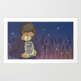 Lightning Bugs Art Print