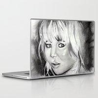 jennifer lawrence Laptop & iPad Skins featuring Jennifer Lawrence by Papa-Paparazzi