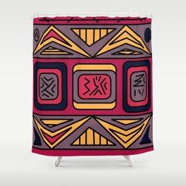 Ethnic background folk african pattern Shower Curtain