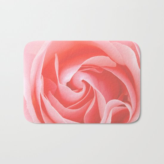 Velvet pink rose - Roses Flowers Flower Bath Mat