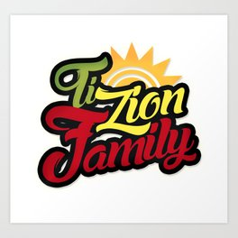 logo TZF ti zion family Art Print