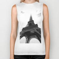 eiffel Biker Tanks featuring Eiffel by Julie Photographie