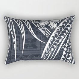 Hawaiian - Samoan - Polynesian Old Tribal Rectangular Pillow