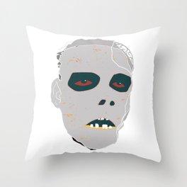 Death Mask Throw Pillow