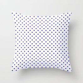 Dots (Blue/White) Throw Pillow