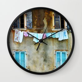 Clothes Drying Wall Clock