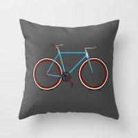 bike Throw Pillows featuring Bike by Wyatt Design
