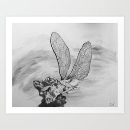 A Fairy Named Dev Art Print