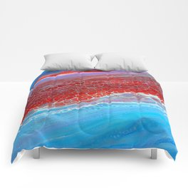 red and blue Comforters