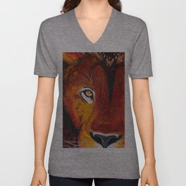 Lion - Wild and free - by LiliFlore Unisex V-Neck