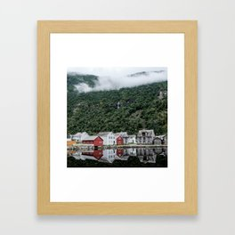 Storybook Village Framed Art Print