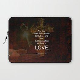1 Corinthians 13:13 Bible Verses Quote About LOVE Laptop Sleeve