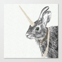 uni-hare All animals are magical Canvas Print