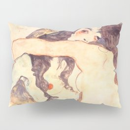 "Egon Schiele ""Two women embracing"" Pillow Sham"