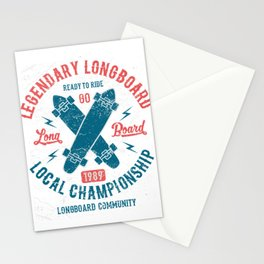 Legendary Longboard Stationery Cards