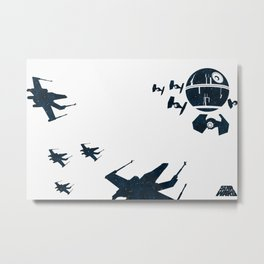 """Stay in attack position"" Metal Print"