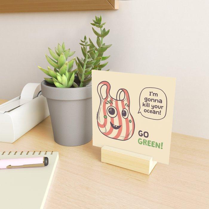 No to plastic bags! Mini Art Print