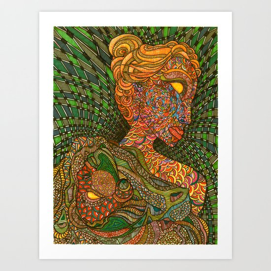 Scarlet & Equine Art Print
