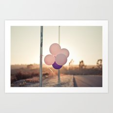 pink + purple Art Print