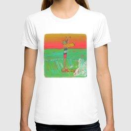 Hang 10 Lady Slider Surfer Girl T-shirt