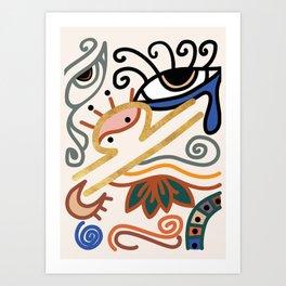 Abstract Libra Zodiac Sign Art Print