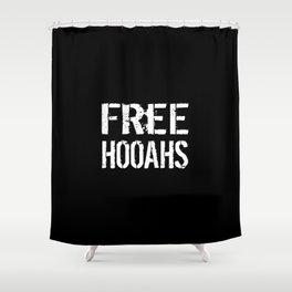 Free Hooahs Shower Curtain