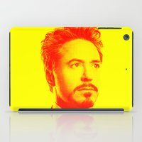robert downey jr iPad Cases featuring R. Downey Jr. ***** by Hands in the Sky