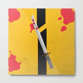 KILL BILL Tribute Metal Print
