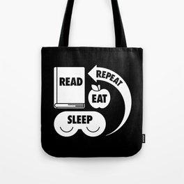 Read. Eat. Sleep. Repeat. Tote Bag