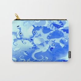 Seahorse in blue Carry-All Pouch