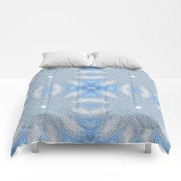 Serenity Blue & Gray Mandala Comforters