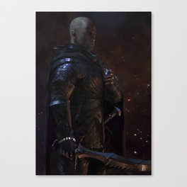 Knight-Captain - Black Canvas Print