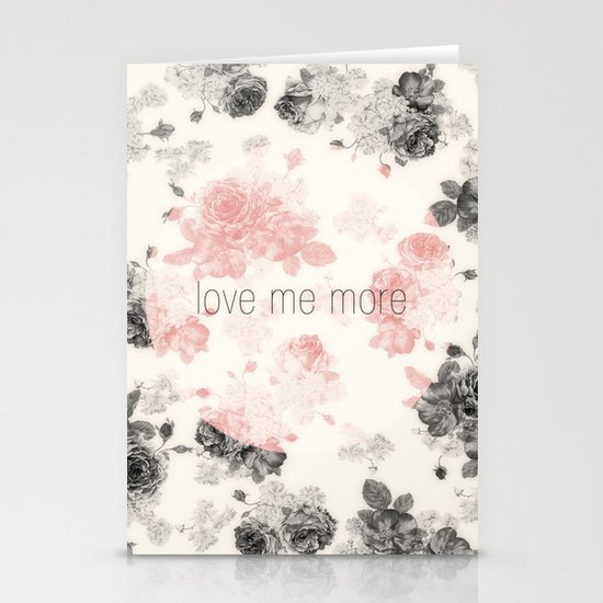 Love Me More Stationery Cards