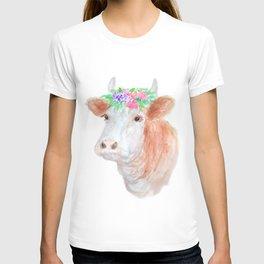 Flower Crown Cow T-shirt