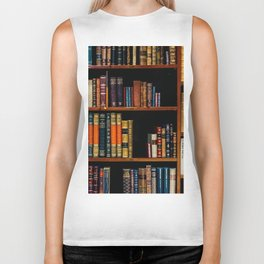 The Bookshelf (Color) Biker Tank