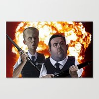 hot fuzz Canvas Prints featuring Hot Fuzz by Richtoon