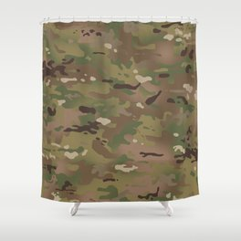 Military Woodland Camouflage Pattern Shower Curtain