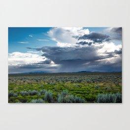 Desert Rain - Summer Thunderstorms Near Taos New Mexico Canvas Print