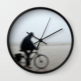 Bike in Mist Wall Clock