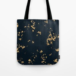 Black Marble with Gold Foil Tote Bag