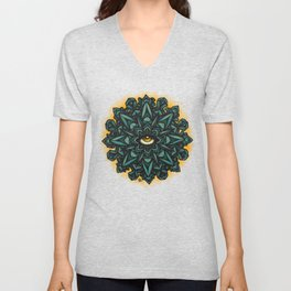 Mandala Eye - Color Variant 1 Unisex V-Neck
