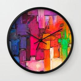 Color Interlace  Wall Clock