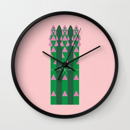 Vegetable: Asparagus Wall Clock