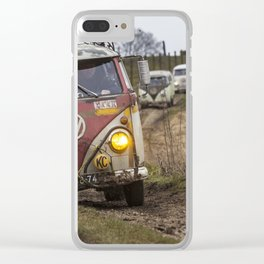 Offroad with vintage cars Clear iPhone Case